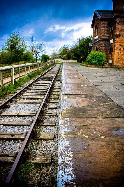 Züge im Bahnhof